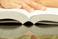 Woman hands holding open book Royalty Free Stock Photo