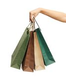 Woman hands holding shopping bags Stock Photography