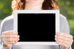 Woman hands holding tablet PC Stock Photography