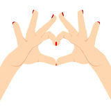 Woman Hands Love Heart Royalty Free Stock Photography