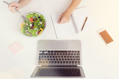 Woman hands lunch Royalty Free Stock Images