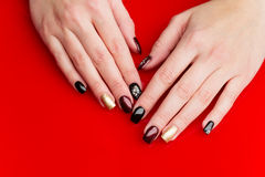 Woman hands with manicure Stock Photo