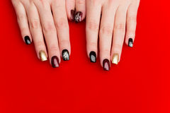Woman hands with manicure Royalty Free Stock Photo
