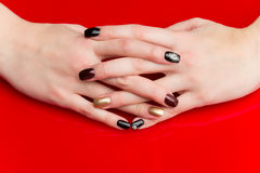 Woman hands with manicure Royalty Free Stock Photos
