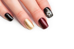 Woman hands with manicure Royalty Free Stock Image