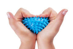 Woman hands with massage ball Stock Photo