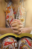 Woman hands over holy bible Stock Photography
