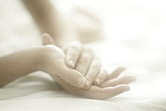 Woman hands soft focus stock photo