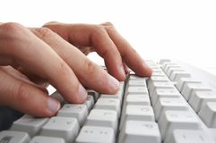 Woman hands typing Stock Images