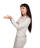 Woman with hands up Royalty Free Stock Photo