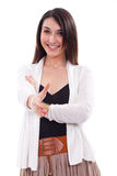 Woman handshaking Royalty Free Stock Photos