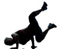 Woman handstand workout royalty free stock photo