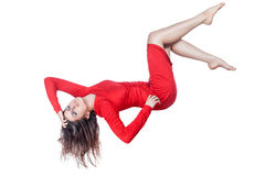 Woman hanging in the air. Royalty Free Stock Photo