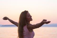 Woman happy free Stock Image