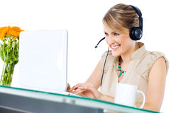 Woman Happy Laptop Royalty Free Stock Images