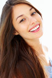 Woman in happy mood Stock Photo