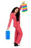 Woman happy shopping Stock Photography