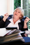 Woman happy at work Royalty Free Stock Image