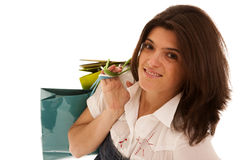Woman happyness after shopping Royalty Free Stock Photo
