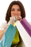 Woman happyness after shopping Royalty Free Stock Images