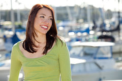 Woman harbor stock images