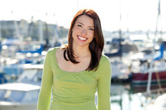 Woman harbor Royalty Free Stock Photography
