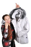 The woman has bought a jacket. Stock Images