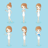 Woman has different hair style. Beauty cartoon woman has different hair style, great for your design Royalty Free Stock Image
