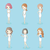 Woman has different hair style. Beauty cartoon woman has different hair style, great for your design Stock Images
