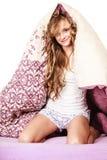 Woman has good night's sleep Royalty Free Stock Photos