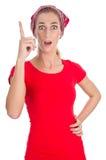 Woman has idea Stock Photo