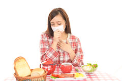 Woman has no appetite Stock Photography
