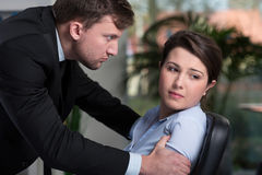 Woman has problems in the office Royalty Free Stock Image