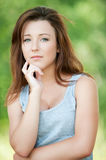 Woman has reflected on life Stock Images