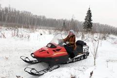 Woman has winter vacation Royalty Free Stock Photo