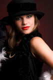 Woman in a hat. Stock Image