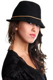 Woman in a hat Stock Photography