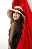 Woman in hat Royalty Free Stock Photography