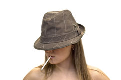 Woman in a hat Stock Photo