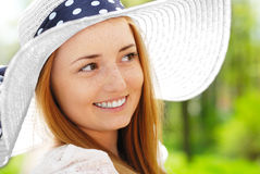Woman in a hat Royalty Free Stock Photography