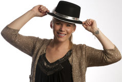 Woman with hat Royalty Free Stock Photos