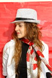 Woman with hat Stock Photography