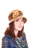 Woman with hat. Royalty Free Stock Image