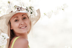 Woman in hat Stock Photo