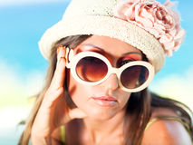Woman in hat Royalty Free Stock Photo