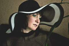 Woman in a Hat Stock Image