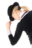 Woman and hat Stock Images