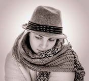 Woman in a hat Stock Photos