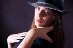 Woman with hat Royalty Free Stock Photo