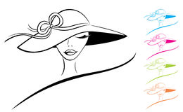 Woman in a Hat royalty free stock images